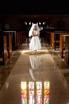 Girls First Holy Communion.  This Church is just beautiful, inside and out!