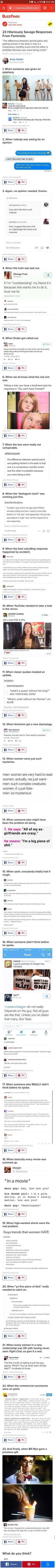 Feminism at it's finest (https://www.google.com/amp/s/www.buzzfeed.com/amphtml/andyneuenschwander/23-hilarious-posts-for-feminists-who-are-pretty-muc)