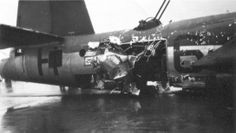 Martin B-26G-1-MA, s/n 43-34165, T6-H, 391st Bomb Group 573rd Bomb Squadron, crashlanded at base after being hit by a 88mm shell, 2nd December 1944. The crew that day were:- 1.Lt Edward B Dunn; 2.Lt Edwin H Armstrong; S/Sgt Oliver W Hartwell; T/Sgt James B Sims; S/Sgt Jesee M Ellerbee (killed); S/Sgt John J Wagner