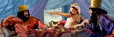 At her second banquet, Esther tells all to King Ahasuerus and bravely points to Haman