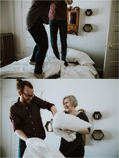 A Fun, Quirky, & Intimate In-Home Couple Session ~ Salina & Kyle - Bethel Ann Photography