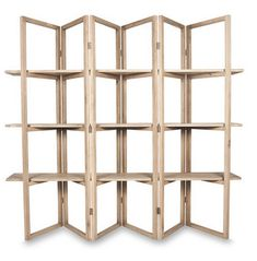Concertina Style Display Shelf - Furniture - Shelving from Other. The Oak Wood Concertina Style Display Shelf is a cleverly designed piece of furnitur Market Stall Display, Pos Display, Market Displays, Store Displays, Display Shelves, Display Ideas, Booth Ideas, Portable Display, Product Display