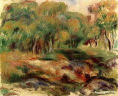 Landscape Artwork by Pierre Auguste Renoir Hand-painted and Art Prints on canvas for sale,you can custom the size and frame