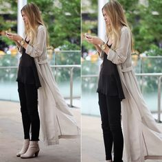 How to rock a maxi cardigan you find over this text