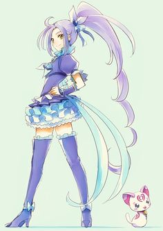 Suite Pretty Cure Cure Beat (Ellen) and Hummy