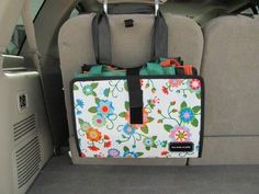 Good storage idea in car for reusable bags