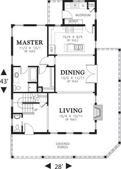 1915 sq ft. 2x6 framing. Cottage Style House Plan - 3 Beds 2.5 Baths 1915 Sq/Ft Plan #48-572 Floor Plan - Main Floor Plan - Houseplans.com