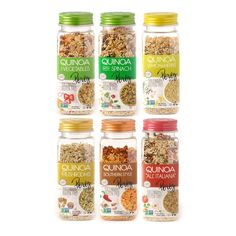 The Nutrition Benefits of Quinoa Spices Packaging, Food Packaging Design, Bottle Packaging, Packaging Ideas, Branding Design, Quinoa Benefits, Dried Vegetables, Lemon Herb, Make Good Choices