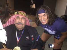 Iron Sheik and Chad Gable