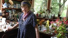 She worked in a chaotic maze of colour and clutter, creating her beautiful artworks.