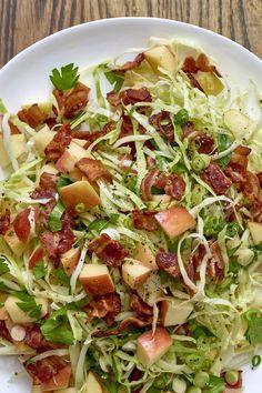 Recipe: Apple-Bacon Slaw | Kitchn Slaw Recipes, Apple Recipes, Healthy Recipes, Healthy Salads, Yummy Recipes, Free Recipes, Dishes Recipes, Cabbage Recipes, Healthy Sides