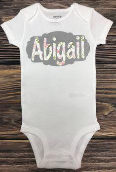 Mashed Clothing Hello Personalized Name Baby Romper World Im Abigail