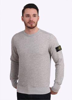 Stone Island Crew Sweatshirt - Pearl Grey
