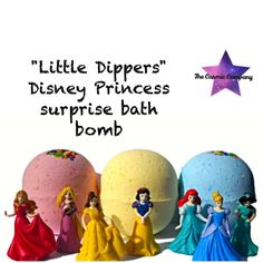 "Little Dippers"" Princess Surprise Bath Bomb by thecosmiccompany on Etsy https://www.etsy.com/listing/249161882/little-dippers-princess-surprise-bath"