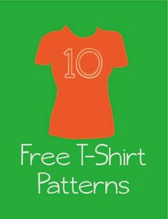 10 Free T-Shirt Patterns for Woman Shirt Patterns For Women, Clothing Patterns, Sewing Patterns, Diy Clothing, Sewing Class, Love Sewing, Clothes Crafts, Sewing Clothes, Sewing Online