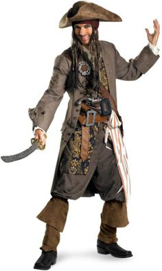 Disguise Costumes Pirates of the Caribbean Theatrical Teen Adult Halloween  Costume Captain Jack Sparrow 30bc3617f37f