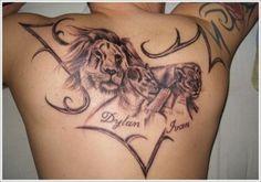 lion-with-kids-name-tattoo-design-300x210.jpg (300×210)