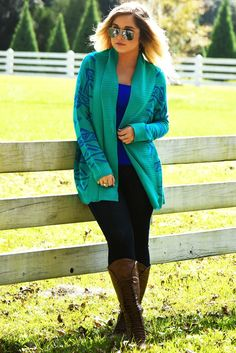 When Stars Fall Cardigan: Turquoise/Blue #shophopes