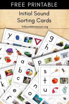 FREE Printable Initial Sound Sorting Cards