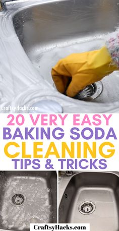 Use these simple tricks to clean kitchen and more items. Natural cleaning tips like that will change the way you clean home because you can do it faster. hacks tips and tricks lazy girl 20 Very Easy Baking Soda Cleaning Tips & Tricks Diy Home Cleaning, Household Cleaning Tips, Deep Cleaning Tips, House Cleaning Tips, Natural Cleaning Products, Cleaning Solutions, Cleaning Checklist, Cleaning Schedules, Speed Cleaning