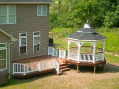 Simple Deck With Gazebo I Like It Decks And Porches Screened