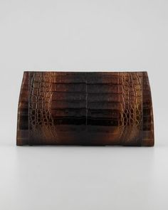 Gradient Metallic Crocodile Clutch Bag, Multi by Nancy Gonzalez at Bergdorf Goodman.