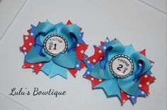 Thing 1 and Thing 2 Bows Thing One Thing Two Cat by lulusBowtique1
