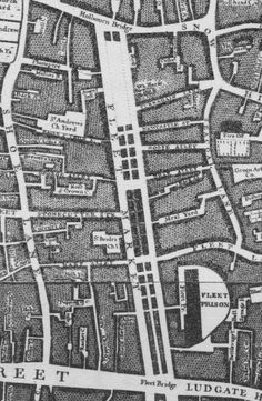 1746 Fleet Market: It was built on top of the River Fleet. It was an open air market adjacent to Fleet Prison. It was demolished in order to build Farringdon Road in 1829.