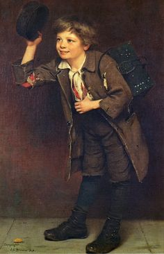 De John George Brown ( Artiste anglais 1831-1913 )
