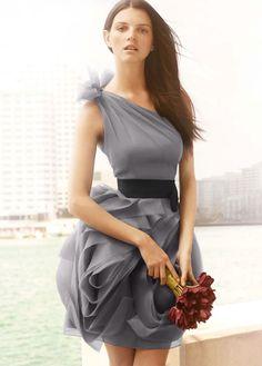 Vera Wang bridesmaids dress grey - I want this dress for my lovely ladies!