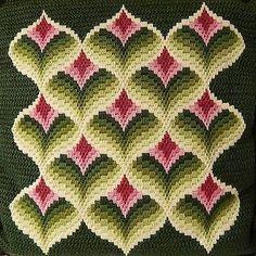 Beautiful Bargello Pillow Vintage with Excellent Craftmanship Purple Green   eBay