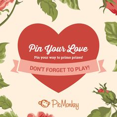 Learn all the details of PicMonkey's Valentine's contest on Pinterest and start pinning for primo prizes!