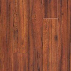 Laminate Wood Flooring: Maraba Hickory 8 mm H x 5 in. W x 47-5/8 in. Length Laminate Flooring (16.28 sq. ft. / case) 367471-00192