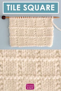 This Simple Seed Stitch is a vintage knitting pattern with a Stockinette background punctuated with alternating rows of raised purl stitches. This Simple Seed Stitch. Knitting Stiches, Knitting Charts, Easy Knitting, Loom Knitting, Knitting Patterns Free, Stitch Patterns, Knitting Squares, Vogue Knitting, Crochet Patterns