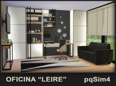 Sims 4 CC's - The Best: Leire office by pqSim4