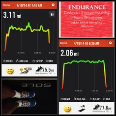 4/19/14: 3 mile run+ 2 mile treadmill hill climb + 100 squats