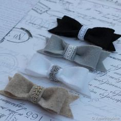 DIY:: Vintage Lace Felt Hair Bows