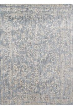 """Florence Collection FO-01 LT BLUE/ IVORY Power Loomed Polypropylene 