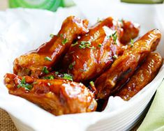 Honey BBQ Chicken Wings - Rasa Malaysia
