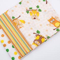 Balíček látek malý se sovičkou 3 x 28 cm x 32cm Scrappy Quilts