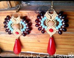 Browse unique items from IrinitasCreations on Etsy, a global marketplace of handmade, vintage and creative goods. Macrame Earrings, Drop Earrings, Etsy Seller, Create, Unique, Handmade, Vintage, Hand Made, Drop Earring
