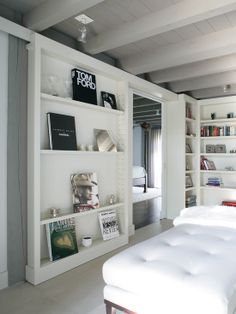 houseandhomepics: bedroom by Bruce D. Nagel Architect http://www.houzz.com/photos/437118/Modern-Farmhouse-contemporary-bedroom-new-york