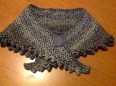 Double knit shoulder shawl
