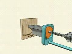 Portal DesignBR — educational-gifs: How to drill a square hole using...