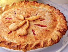 King Orchard's Sour Cherry Pie Recipe  at Epicurious.com