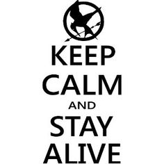 Keep Calm and Stay Alive Hunger Games Mocking Jay wall decal wall art wall quotes wall vinyl sayings