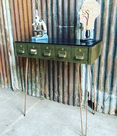 Upcycled industrial metal filing drawers sideboard with hairpin legs Rustic…
