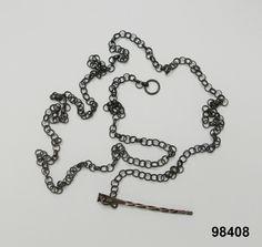 Snörkedja i silver, Vemmenhög, ospecificerat datum. Nordiska Museet, nr. NM.0098408