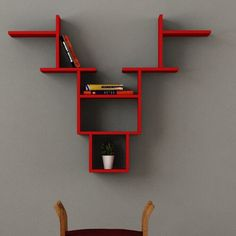 Symple Stuff This creatively, innovative Wall Shelf is unique in style and would look great in any living space. Display Shelves, Wall Shelves, Shelf, Space Saving Dining Table, Regal Display, Cool Walls, Floating Shelves, Living Spaces, House Plans