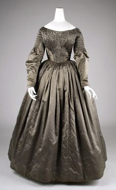 Dress with Rouched Bodice, ca. 1840s via The Met
